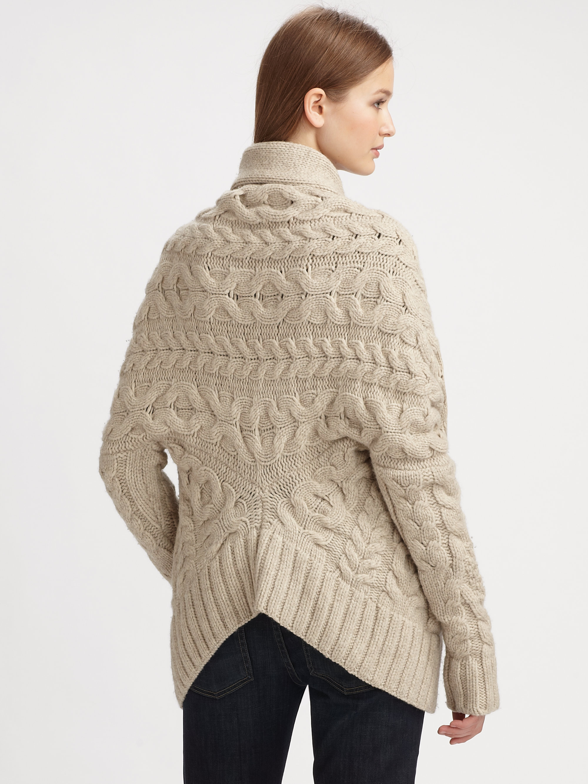 Cable Knit Sweater Coat Image collections - Craft Design Ideas