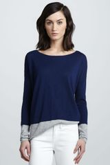 Vince Colorblock Slub Sweater - Lyst