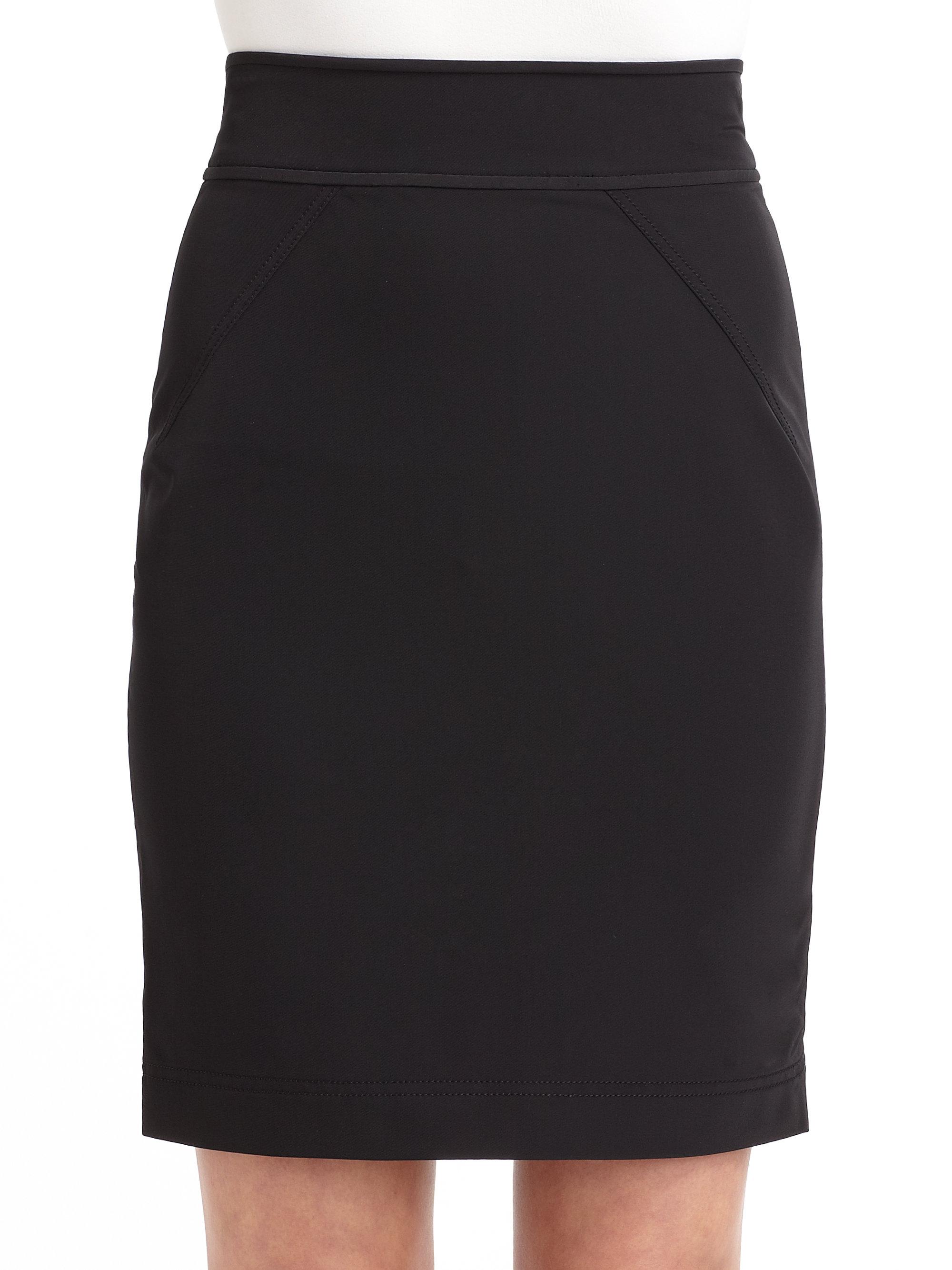 z spoke by zac posen classic pencil skirt in black lyst