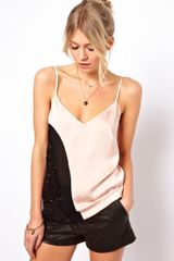 ASOS Collection Cami in Colour Block and Sequin Panels - Lyst