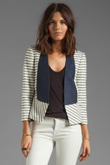 By Malene Birger New Looks Etioloa Blazer in Creamblack - Lyst