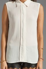 By Malene Birger Getting Ready Marciam Sleeveless Blouse in Beige (cream) - Lyst