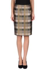 Jil Sander Navy Knee Length Skirts - Lyst