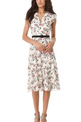 L'Wren Scott Sleeveless Printed Dress - Lyst