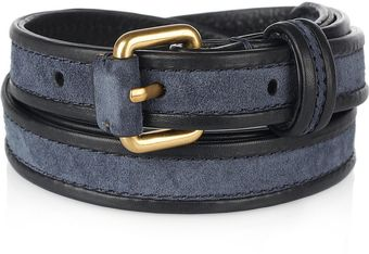 Marc By Marc Jacobs Suede and Leather Skinny Belt - Lyst