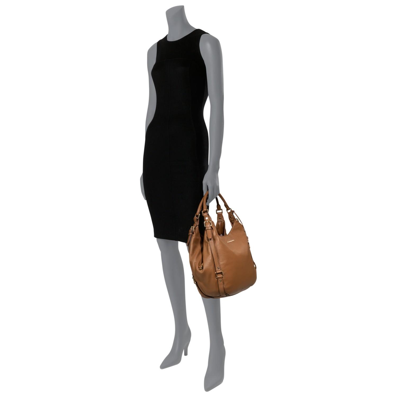 7c075f0e7dfd ... czech michael kors bedford large shoulder tote bag in brown lyst e5617  48c74