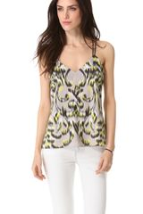 Milly V Double Strap Top - Lyst