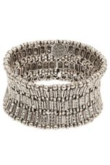 Philippe Audibert Ava Crystal Bar Link Cuff