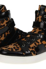 Pierre Balmain Leopard High Top Trainer - Lyst