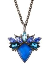 Stephen Webster Agate Topaz Rhodium Pendant - Lyst
