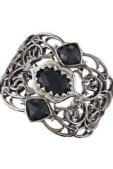 Stephen Webster Oxidized Gray Cats Eye Cuff - Lyst