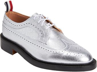 Thom Browne Metallic Wingtip Brogue - Lyst