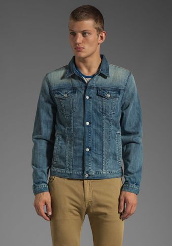 7 For All Mankind Jean Jacket  - Lyst