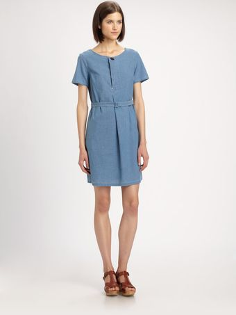 A.P.C. Chambray Dress - Lyst
