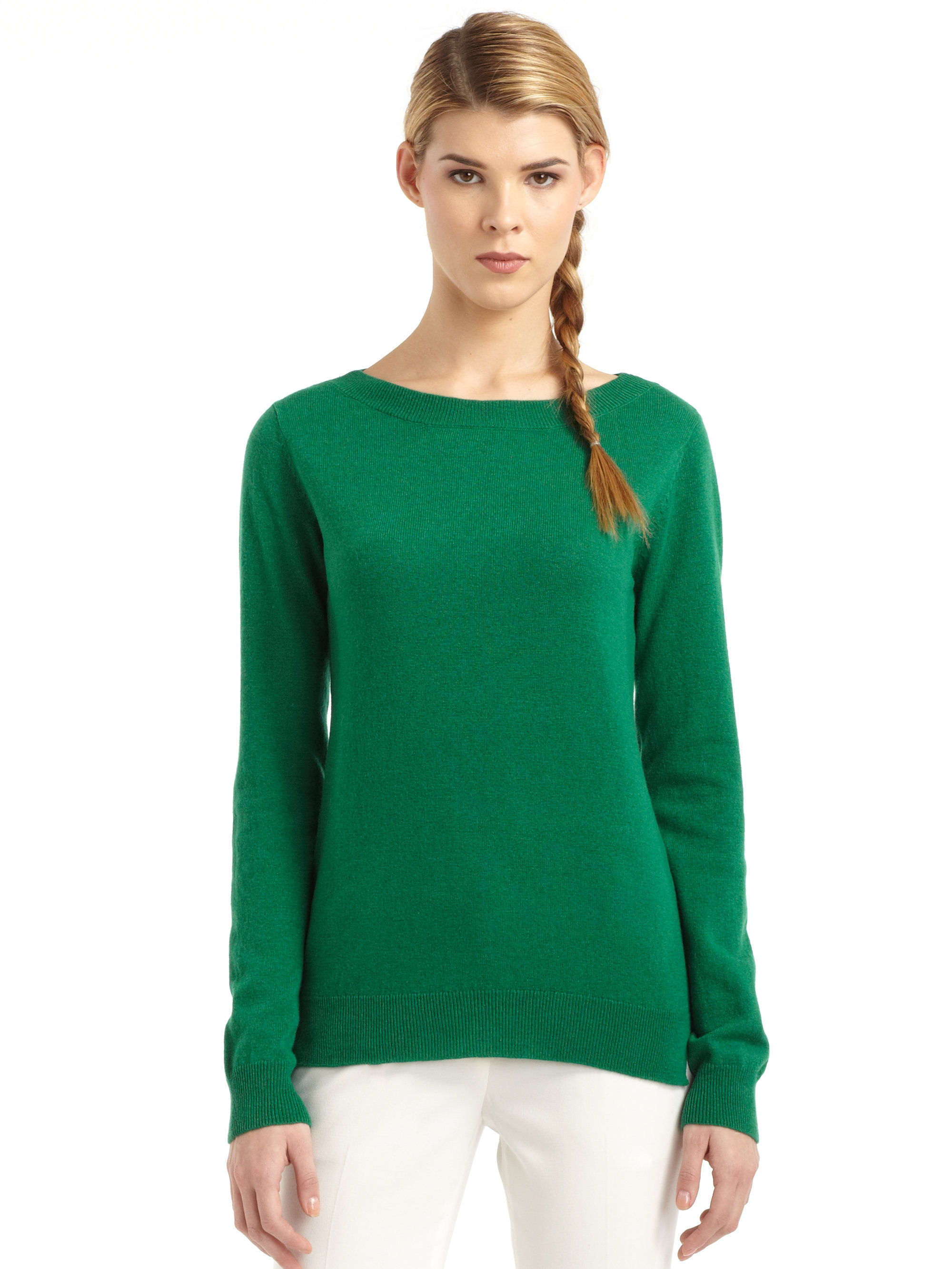 Bcbgmaxazria Cashmere Sweater in Green | Lyst