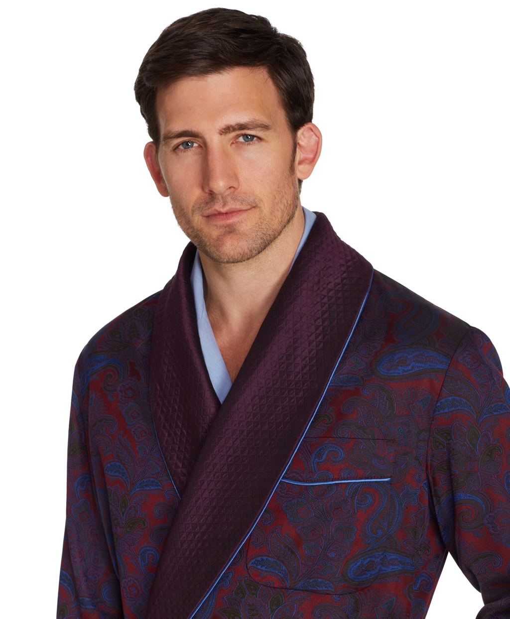 Brooks Brothers Silk Paisley Dressing Gown in Red for Men - Lyst