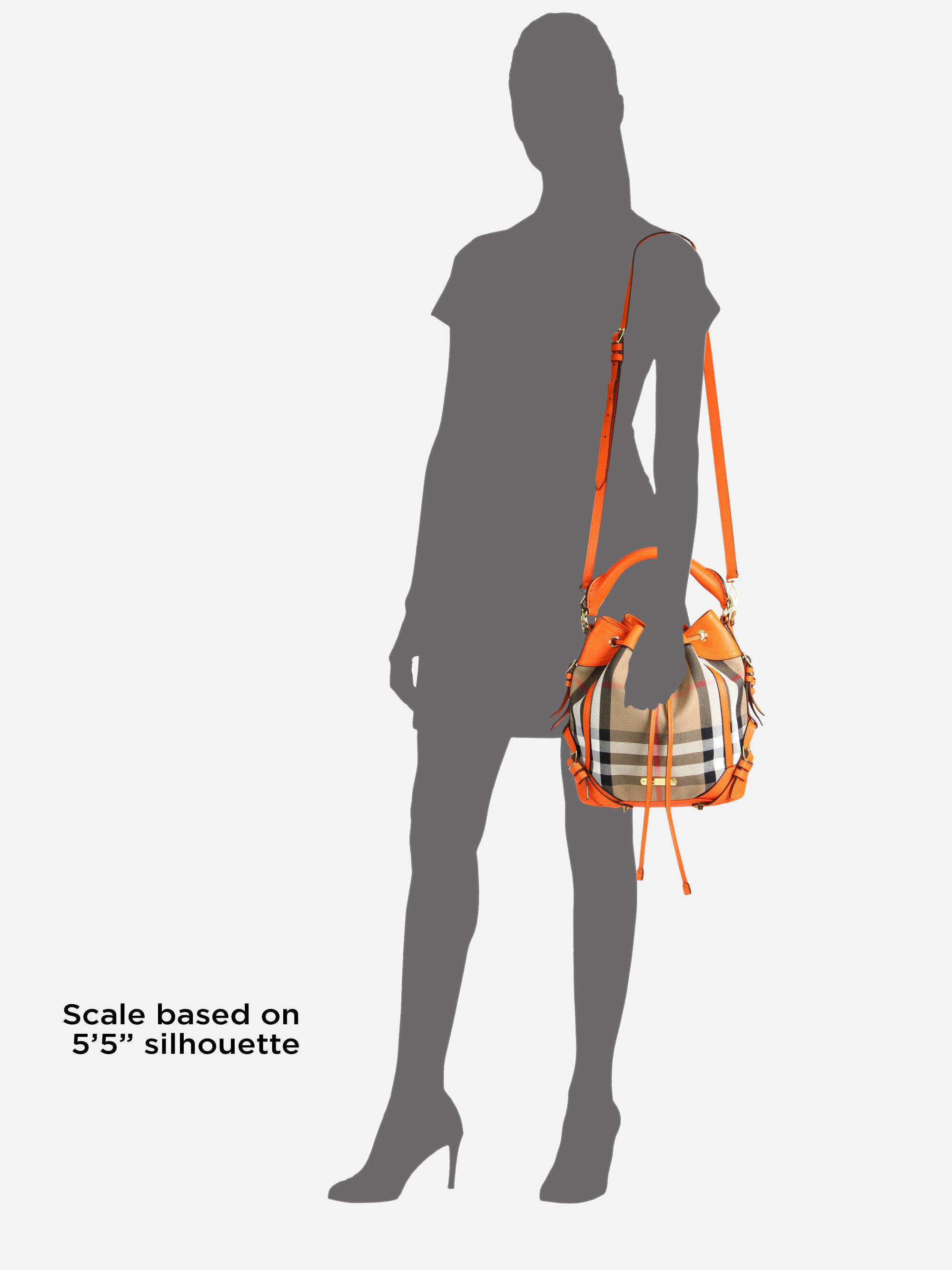 17f4fcc1a41049 Burberry Penbury Small Mixedmedia Bucket Bag in Orange - Lyst