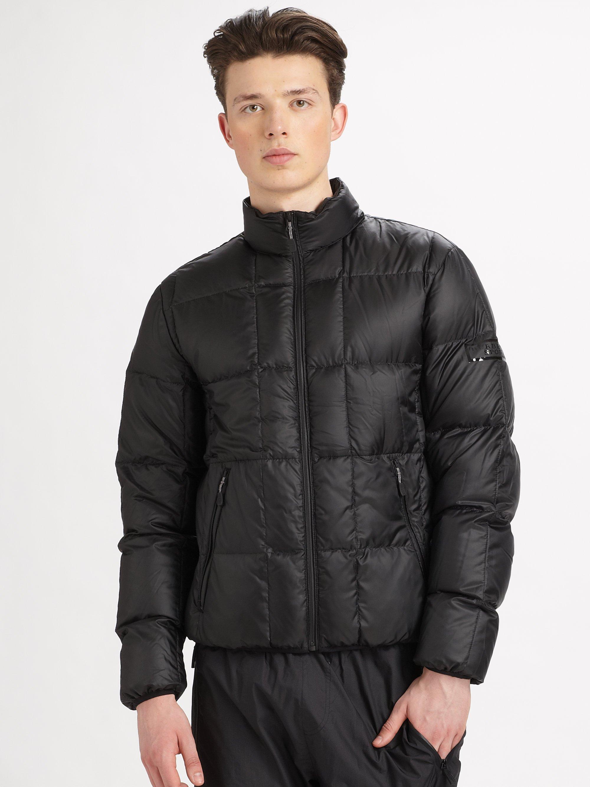 Burberry sport Puffer Jacket in Black for Men | Lyst