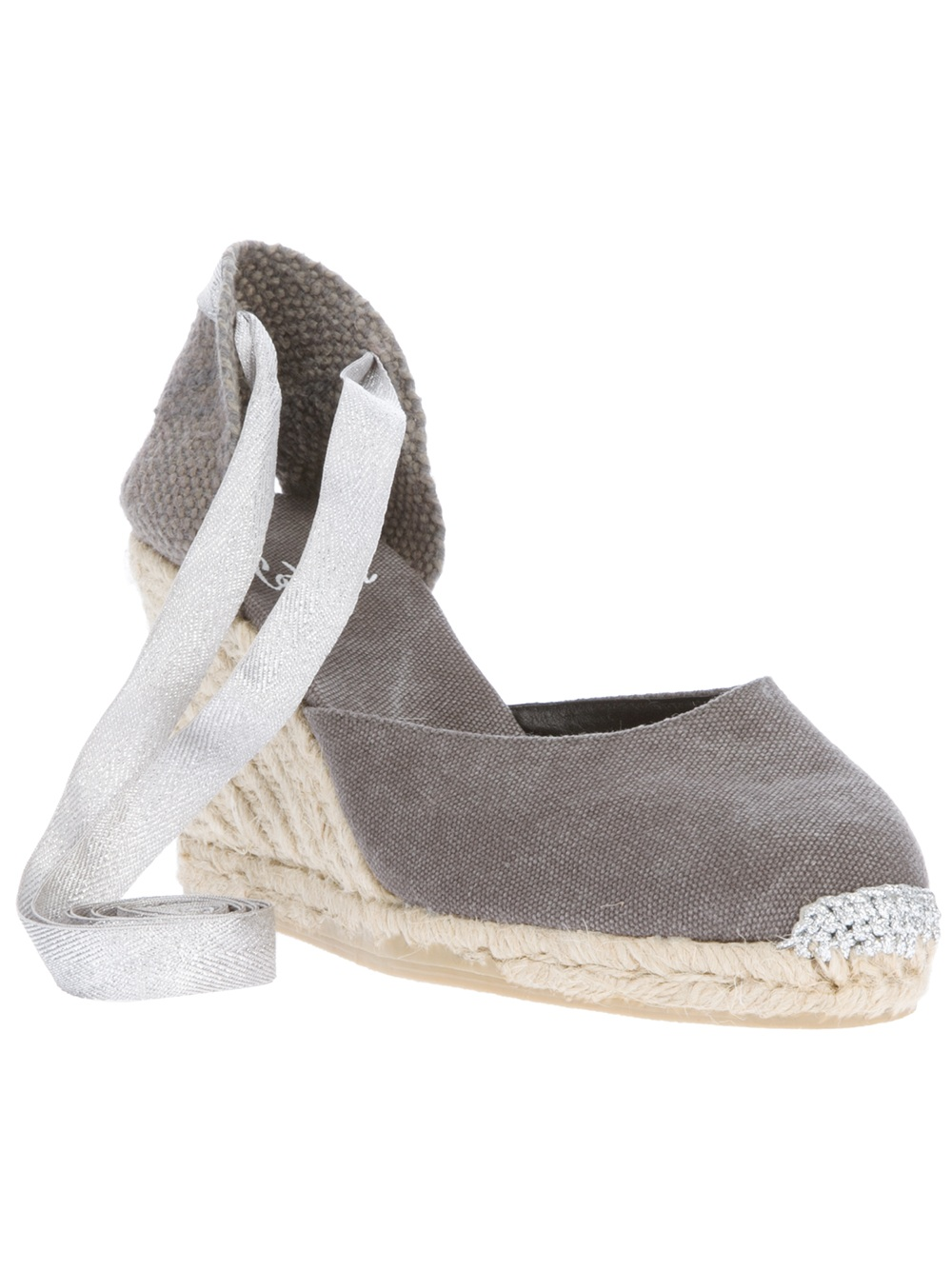 Lyst Castaner Espadrille Wedge Sandal In Gray