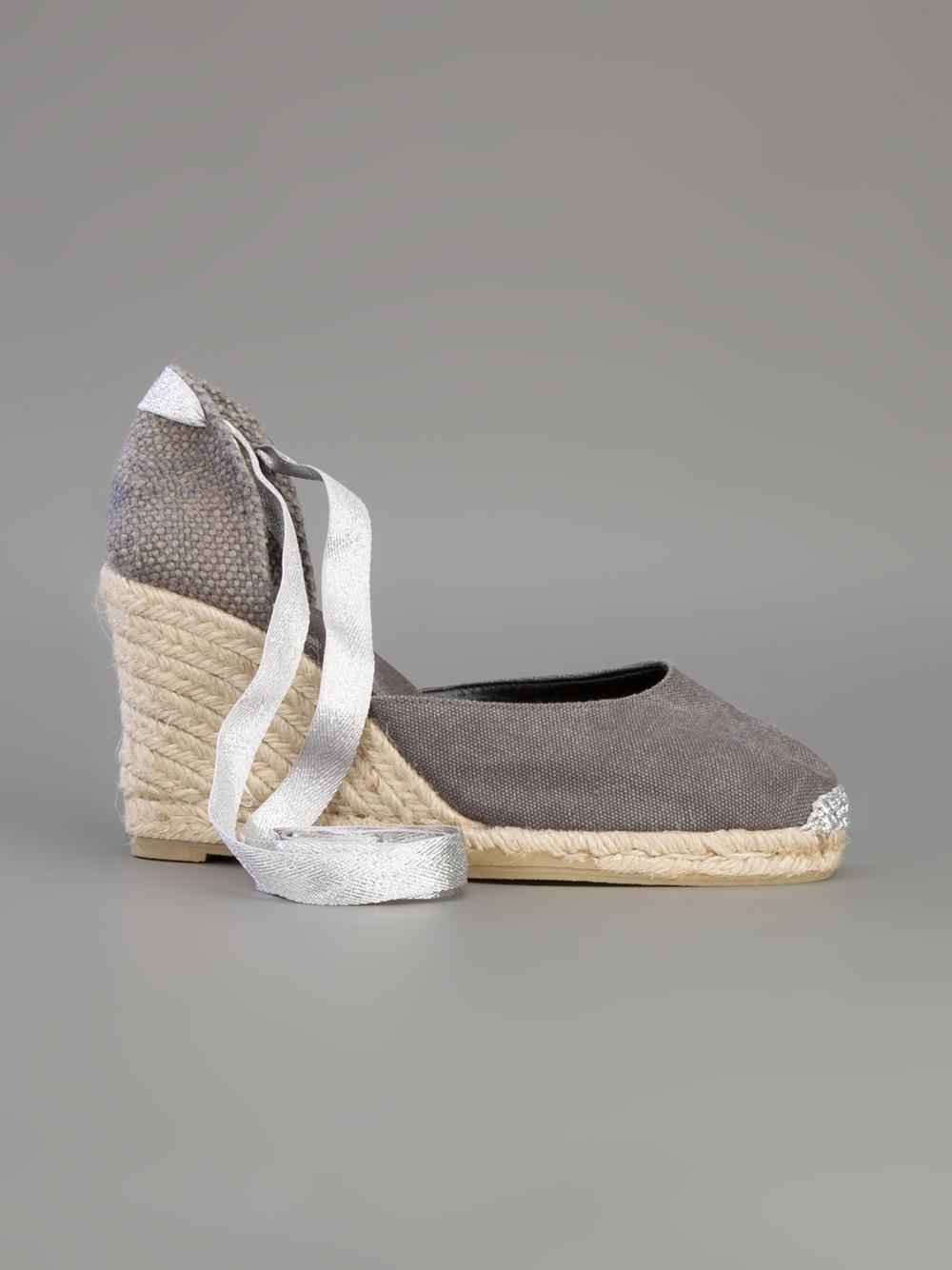 b0676c67d3e Castaner Espadrille Wedge Sandal in Gray - Lyst