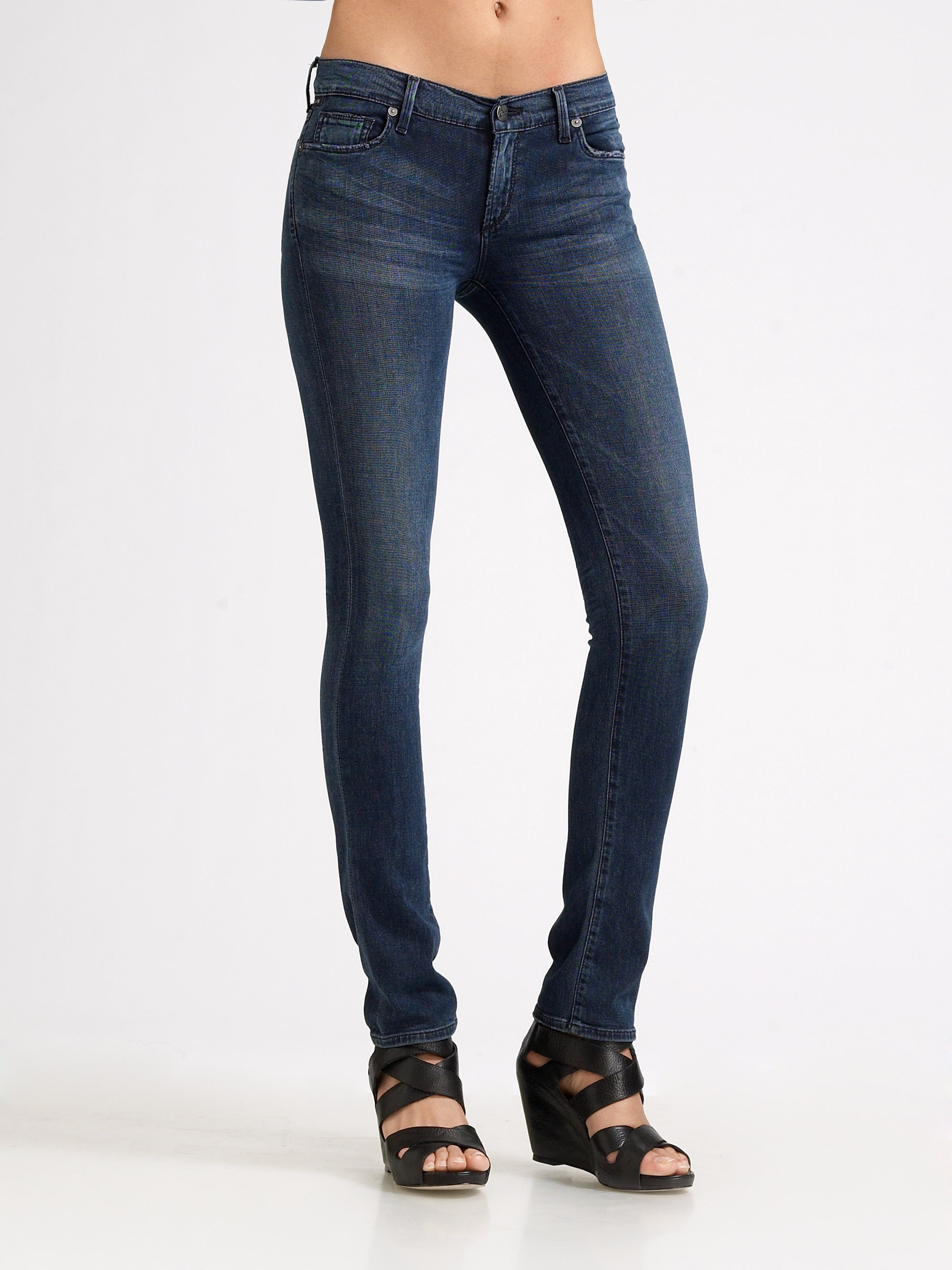 citizens of humanity ava straightleg jeans in blue lyst. Black Bedroom Furniture Sets. Home Design Ideas
