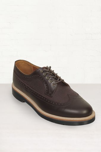 Dr. Martens Dr Martens Alfred Brown Polished Brogues - Lyst