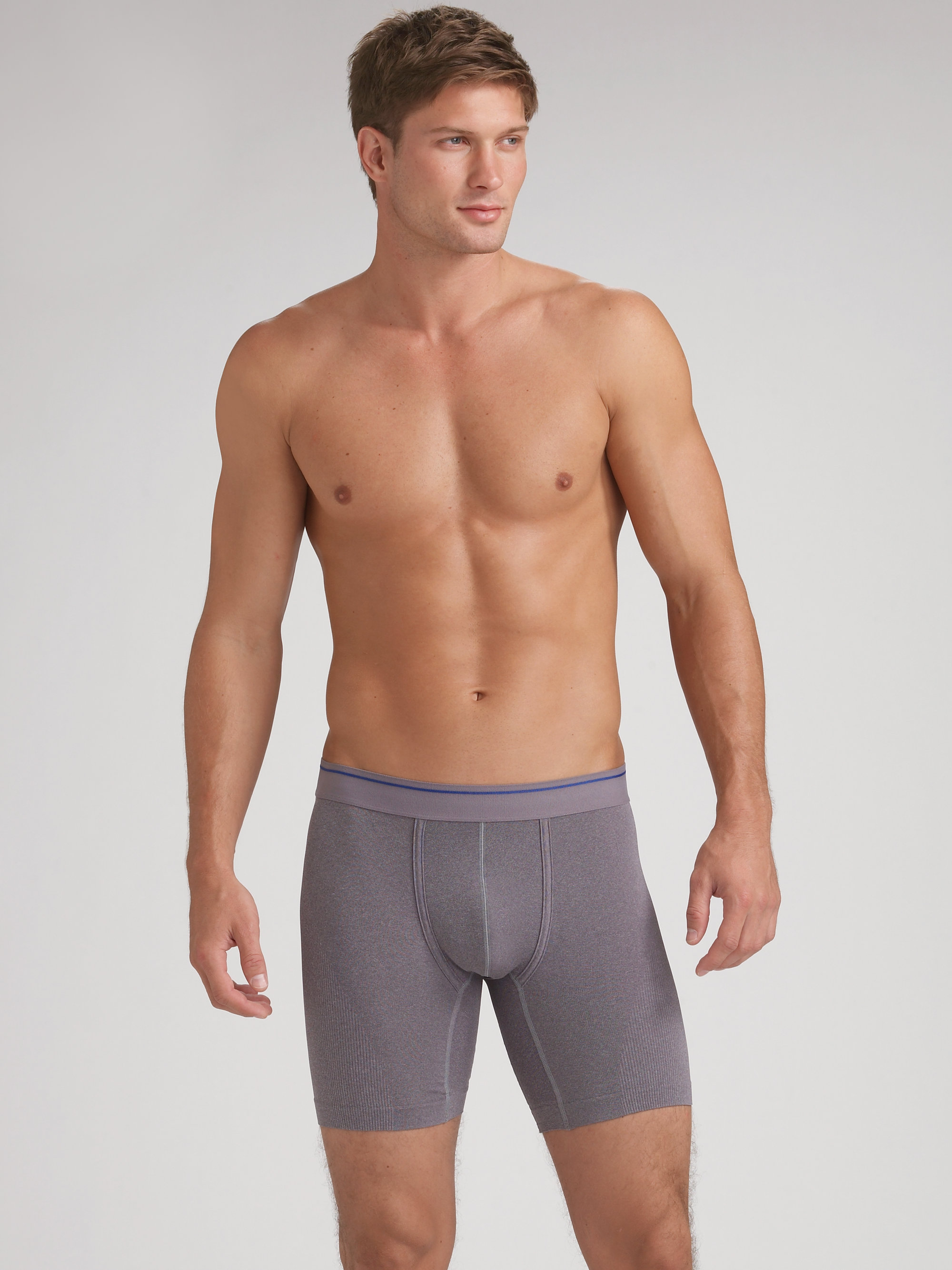 Equmen Precision Long Boxer Briefs In Gray For Men Lyst