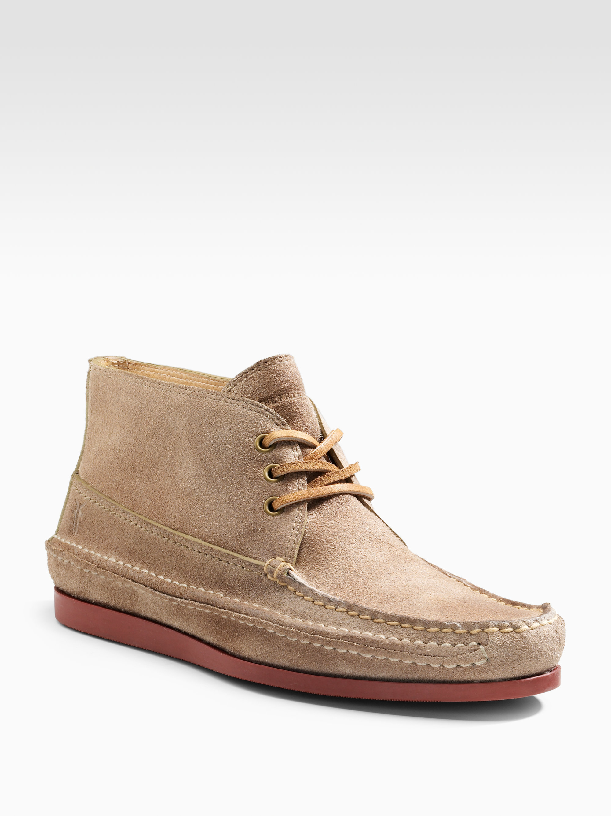 Frye Mason Suede Chukka Boots in Natural for Men | Lyst