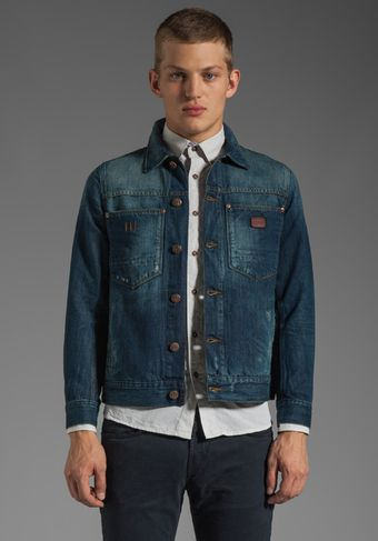 G-star Raw Ranch Denim Jacket in Medium Aged Destroy - Lyst
