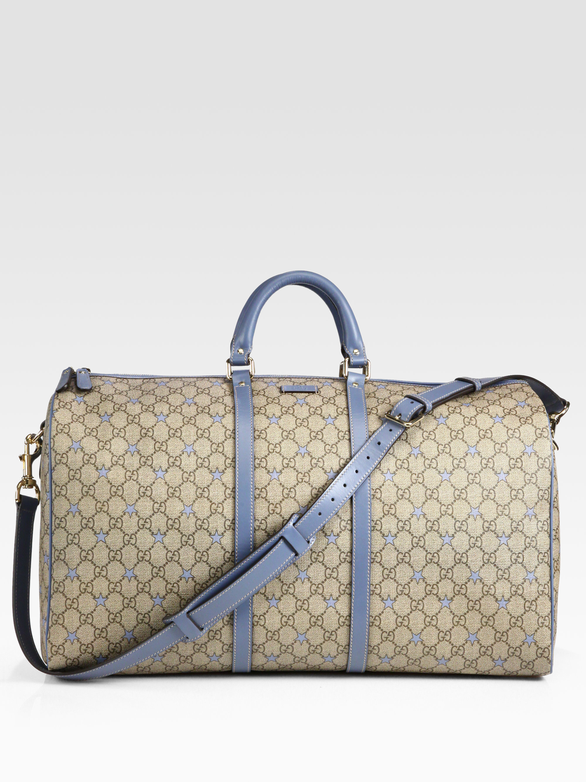 7013370230d0 Gucci Large Gg Pu Stars Fabric Carryon Duffel in Natural for Men - Lyst