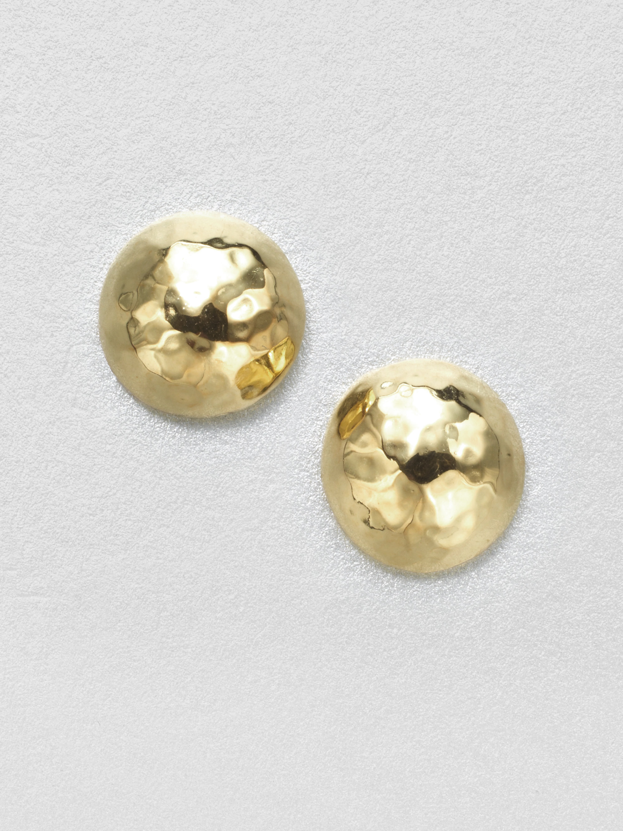 Ippolita Glamazon 18k Yellow Gold Pin Ball Stud Earrings