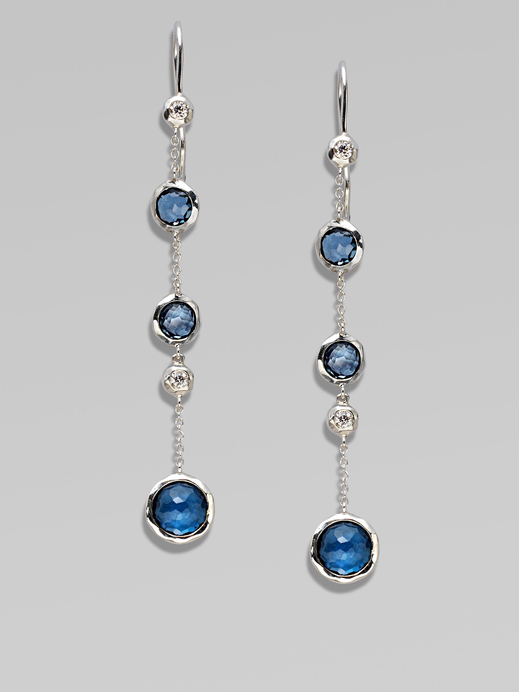 Ippolita Diamonds London Blue Topaz Sterling Silver Earrings in