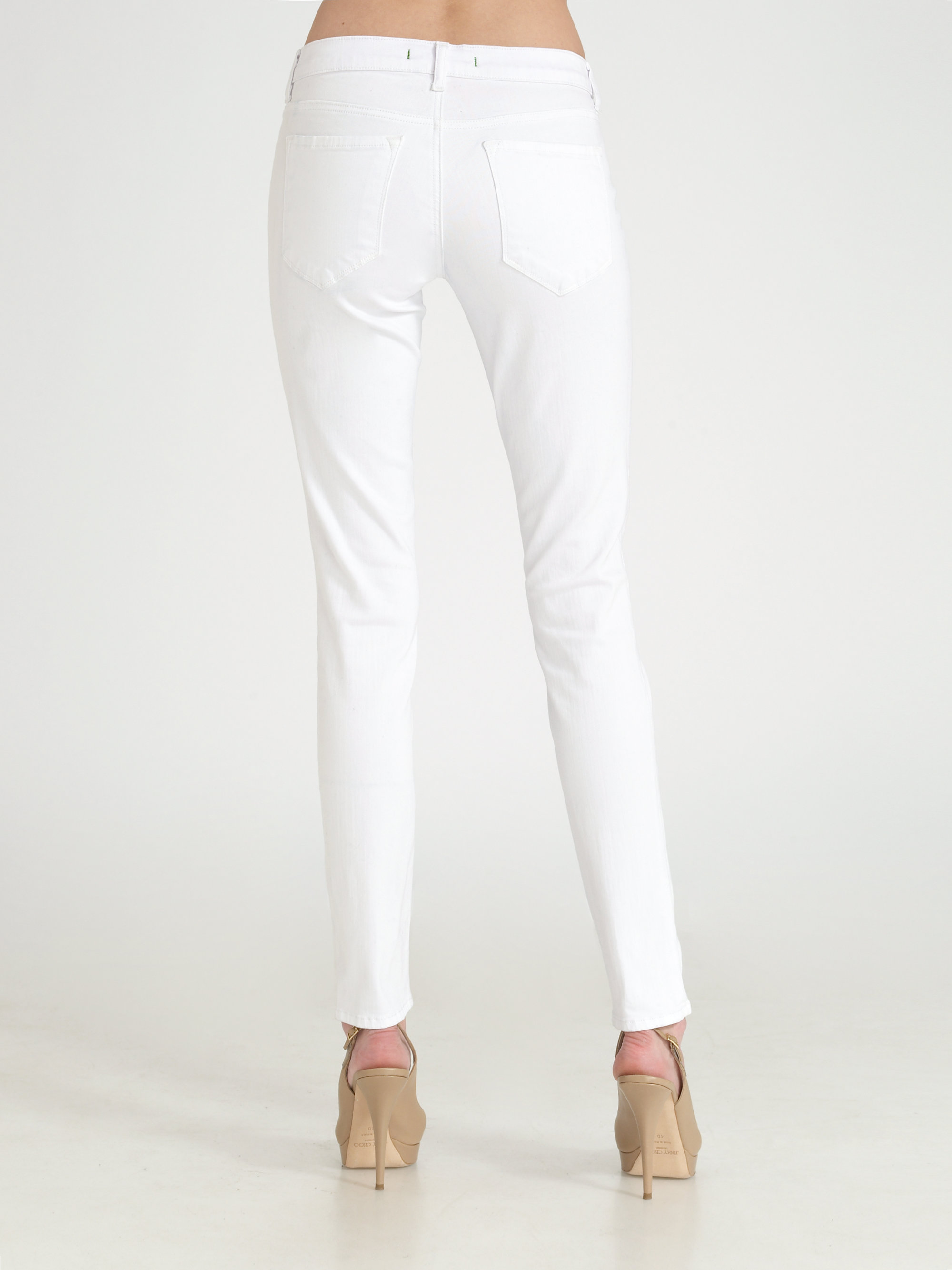 J brand Legging Jeans in White | Lyst