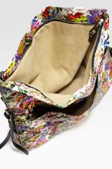 Jimmy Choo Floral Python Biker Shoulder Bag in  (multi) - Lyst