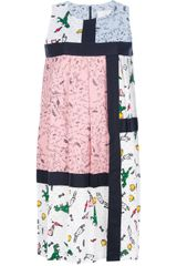 Julien David Mixed Print Shift Dress - Lyst