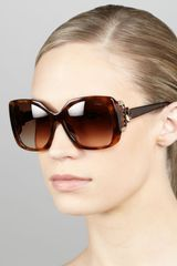 Lanvin Crystaltemple Square Sunglasses - Lyst