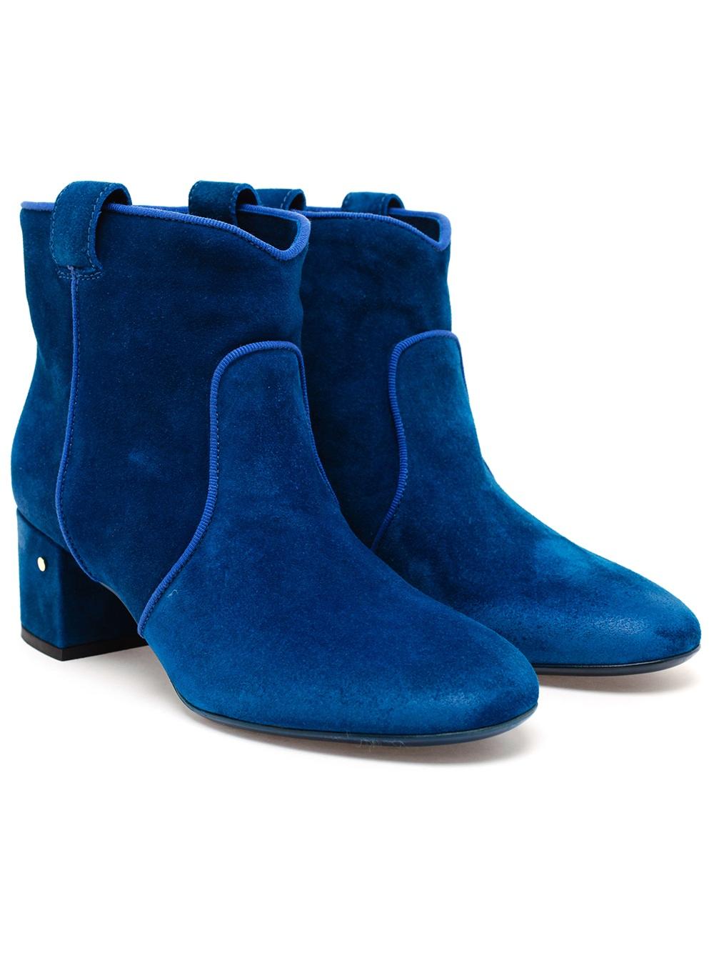 Laurence dacade Belen Suede Boots in Blue   Lyst