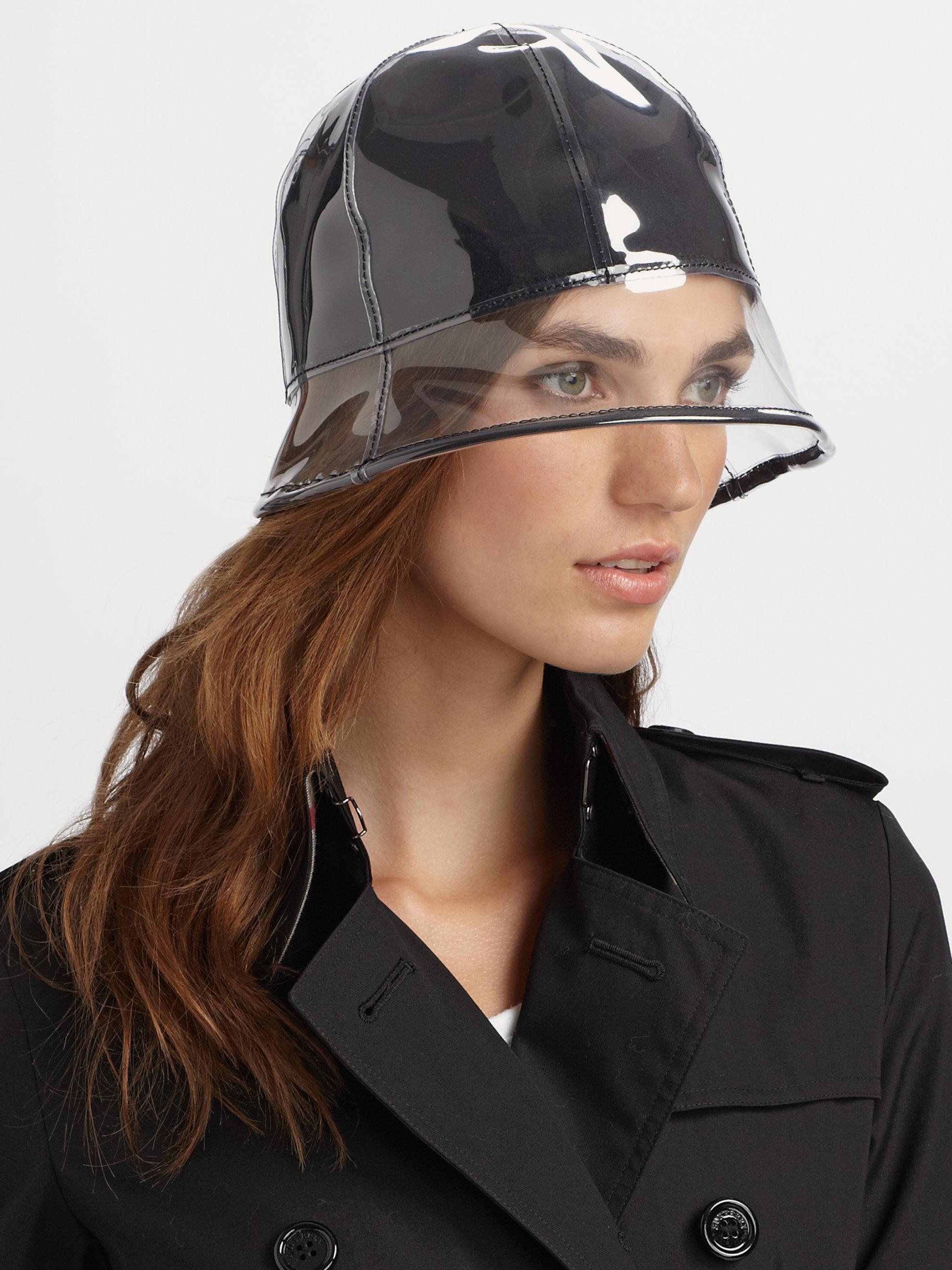 Lyst Lika Plastic Rain Hat In Black
