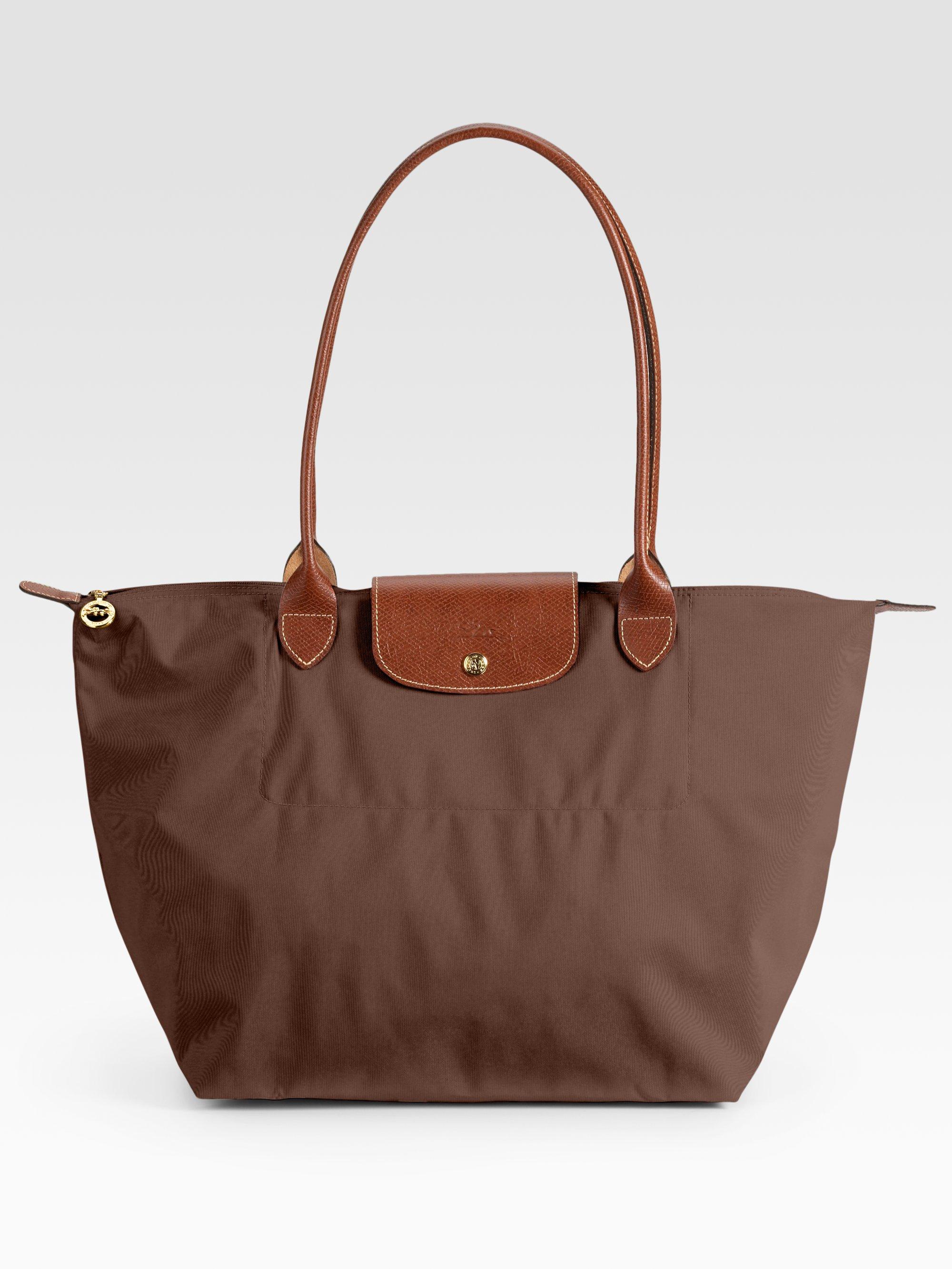 Longchamp Bag Le Pliage Australia : Longchamp le pliage large tote bag in brown lyst