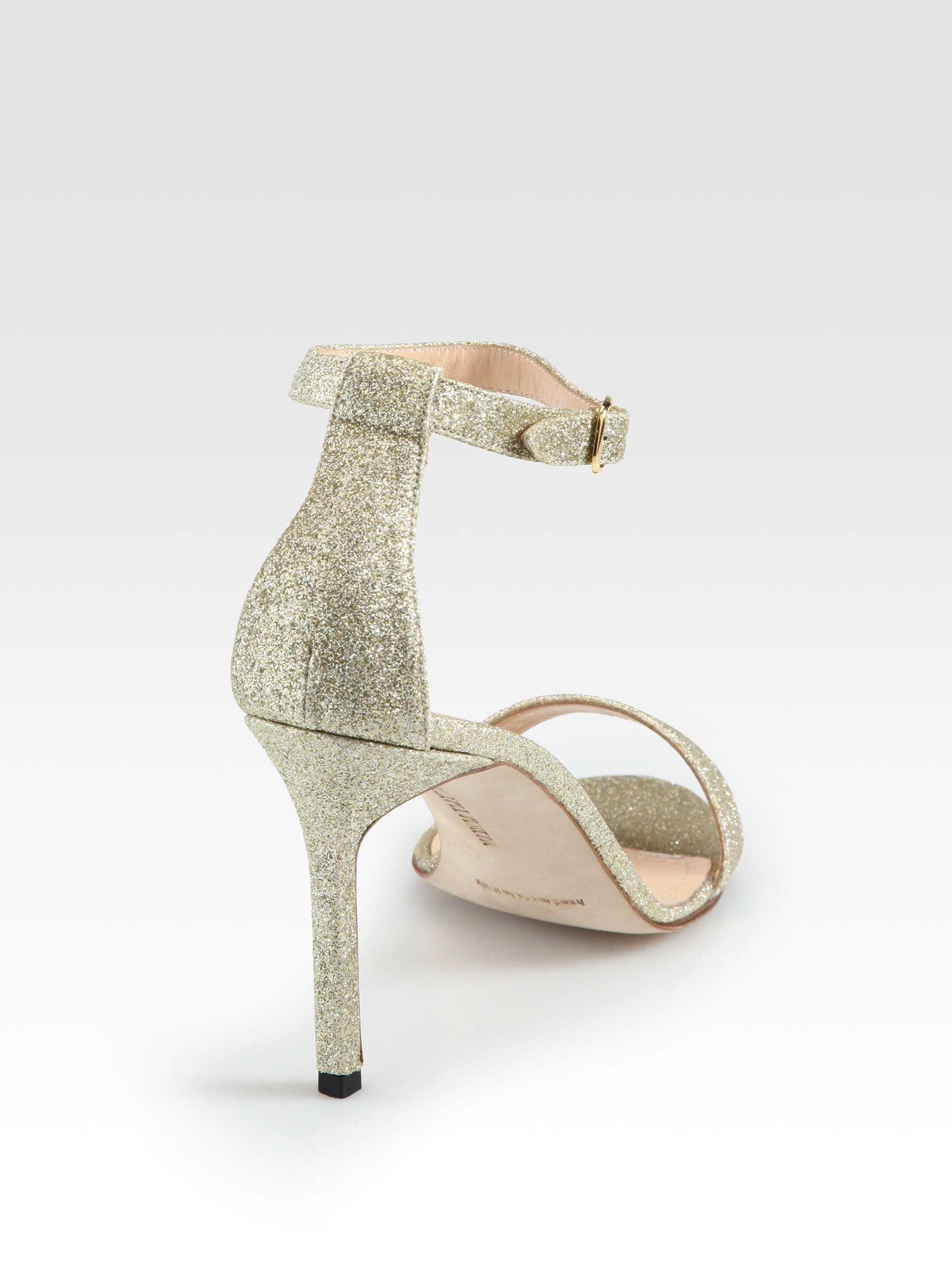 Manolo Blahnik Chaos Glitter Sandals shopping online high quality low shipping fee for sale low price cheap online cheap sale with credit card 2QEgUF