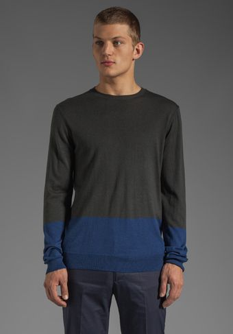 Marc By Marc Jacobs Silk Cotton Cashmere Sweater in Washed Ink Multi - Lyst