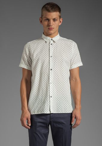 Marc By Marc Jacobs Dotty Chambray Shirting in Wicken White Multi - Lyst