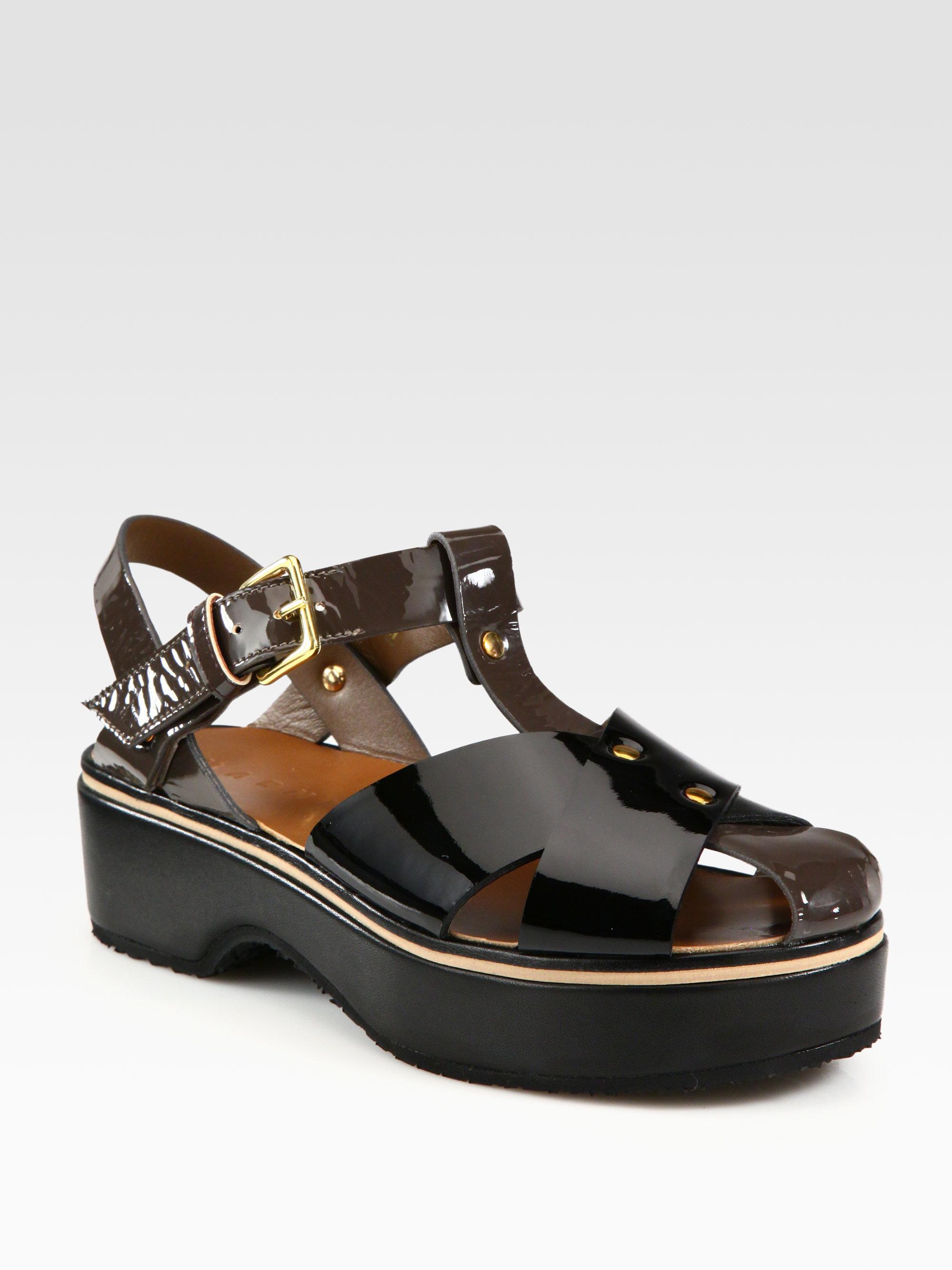 Marni Patent Leather Sandals 67ddWqYx