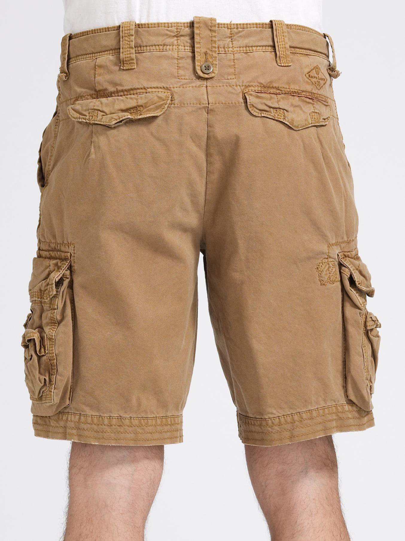Polo ralph lauren Litchfield Canvas Cargo Shorts in Brown for Men ...
