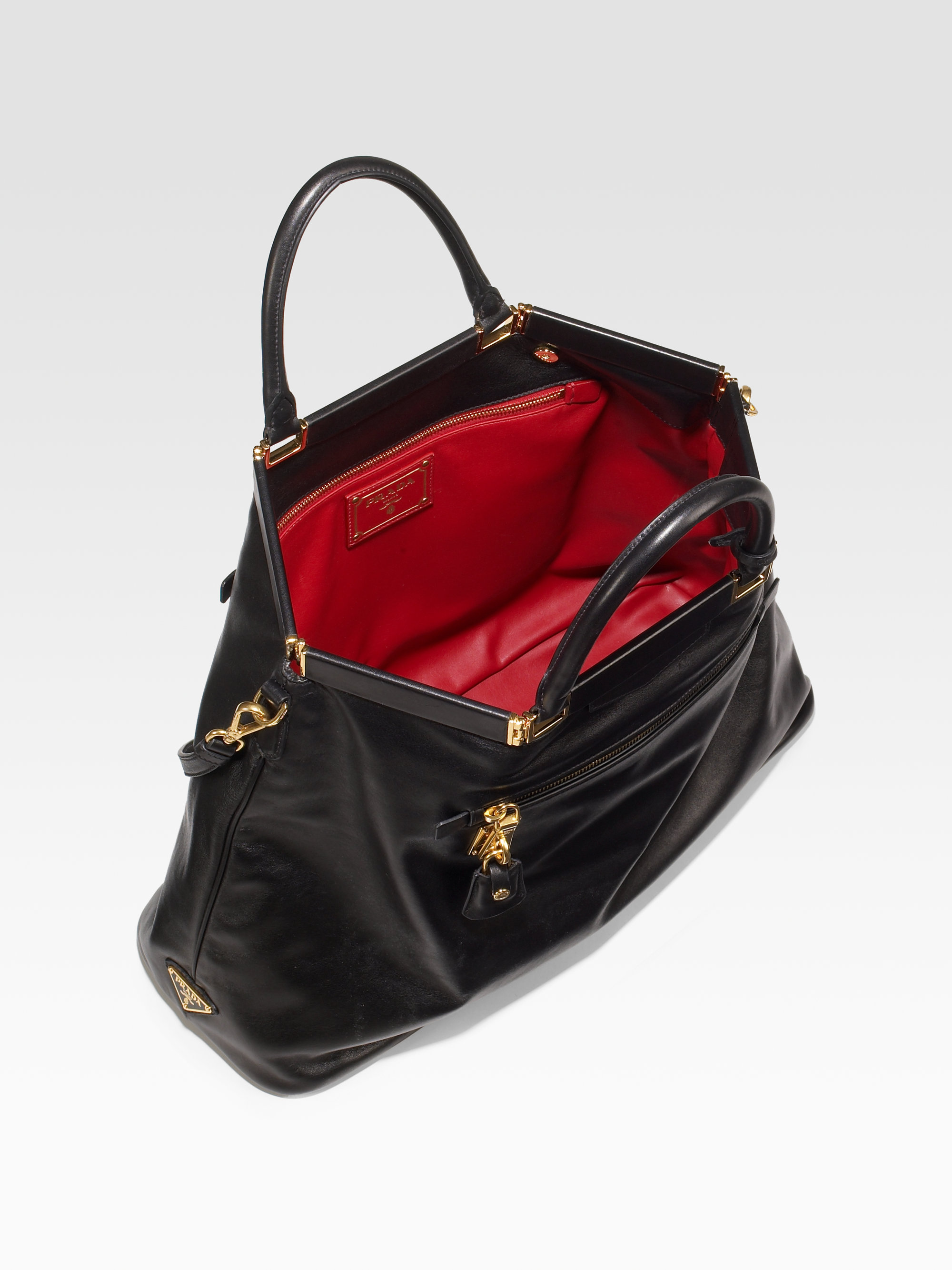 prada reversible soft calf tote bag