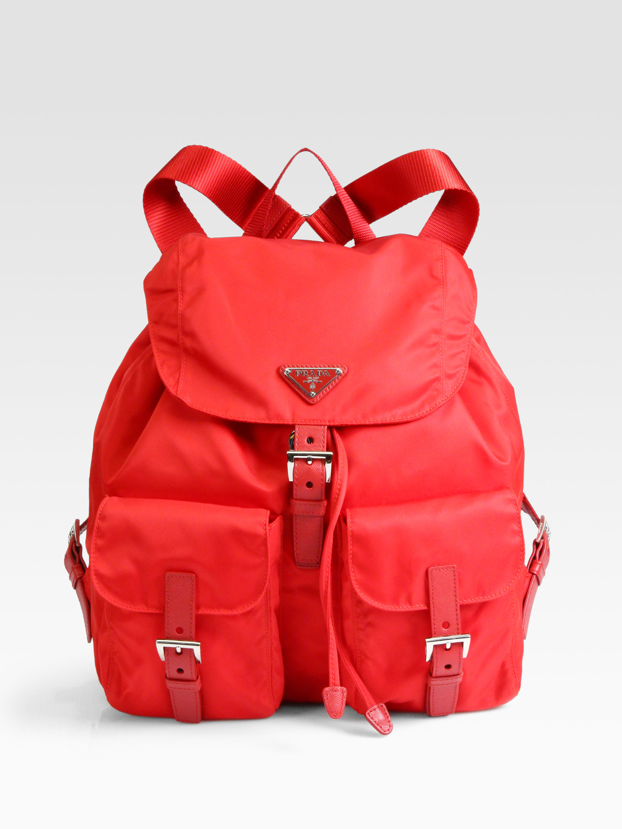 38fd5b287bc9a ... spain lyst prada vela backpack in red d07e5 1ff84