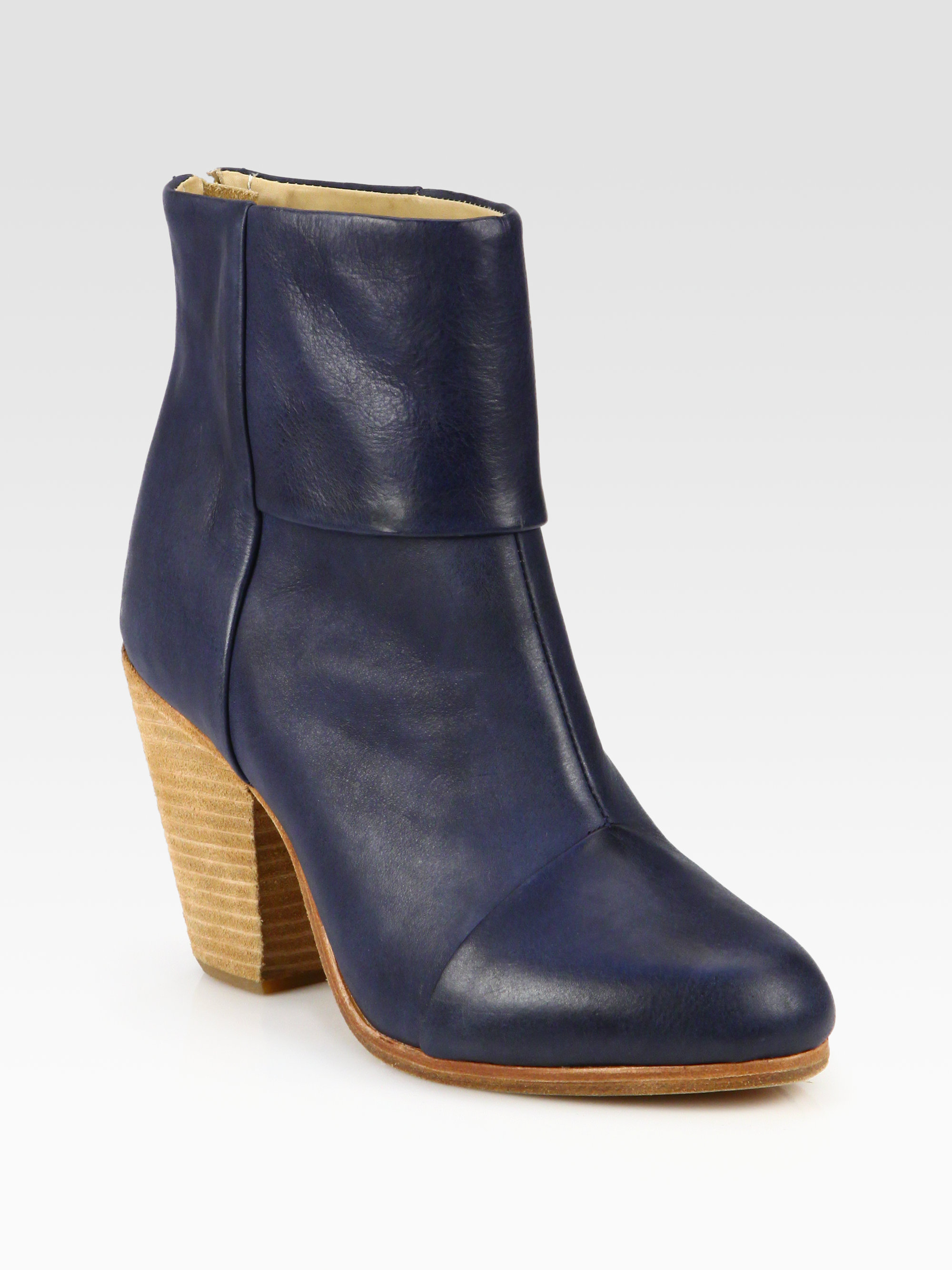 Rag & bone Classic Newbury Leather Ankle Boots in Blue | Lyst