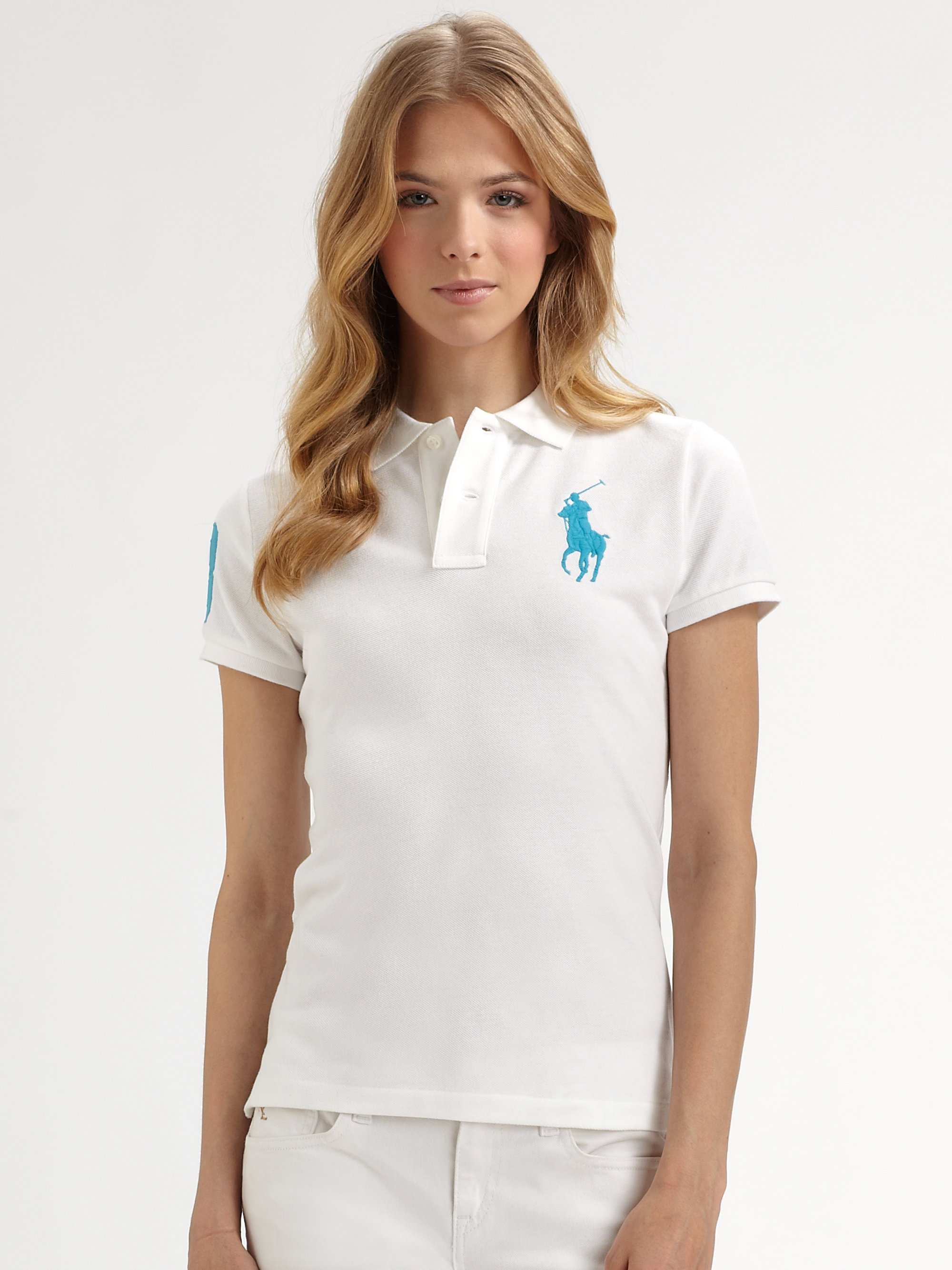 5a22531e30 Lyst - Ralph Lauren Blue Label Polo Shirt in White