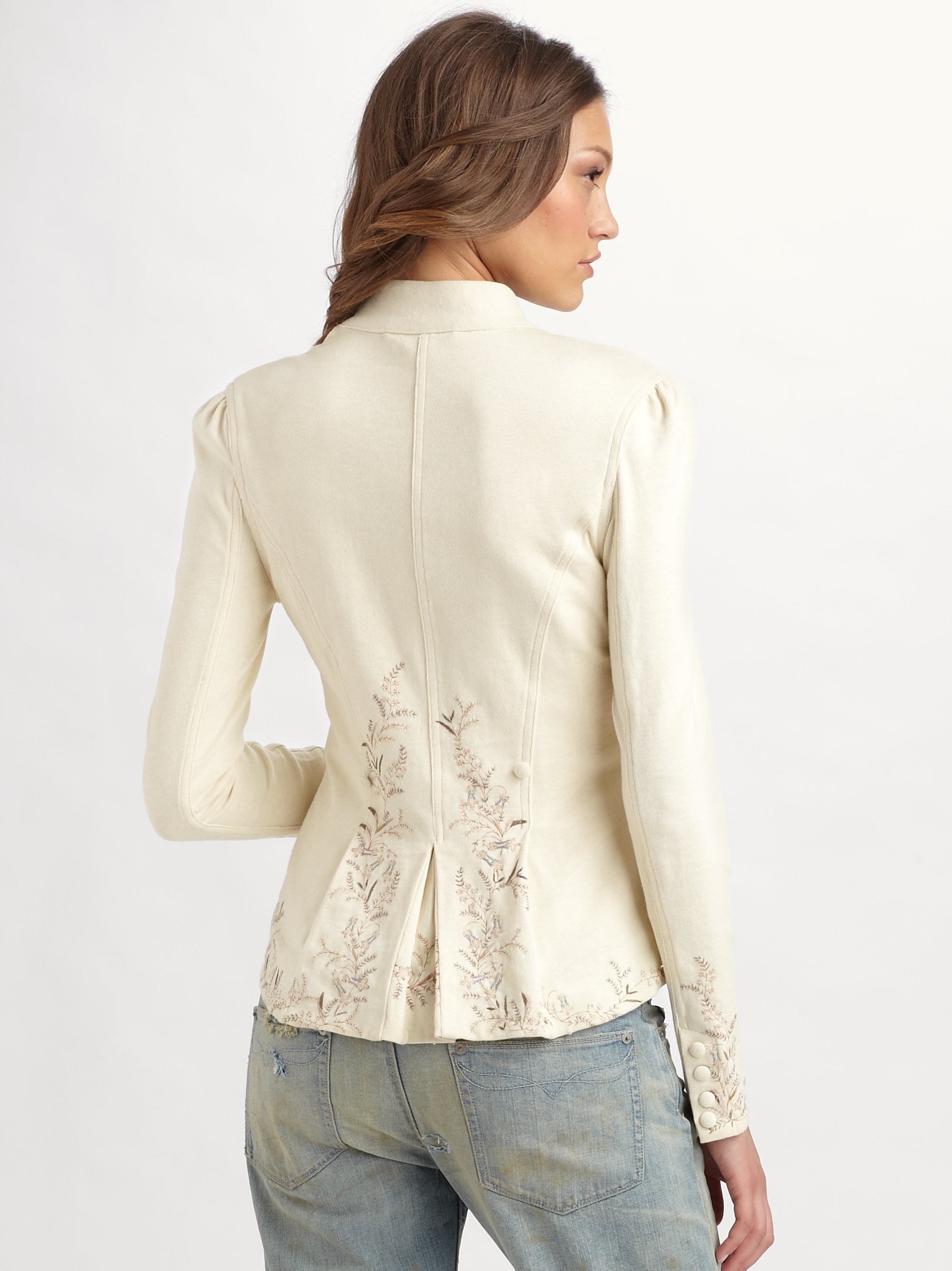 Lyst Ralph Lauren Blue Label Isabella Embroidered