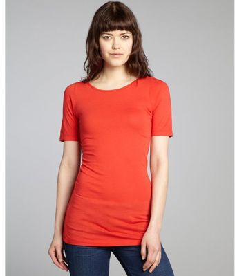 Rebecca Beeson Tomato Cotton Blend Short Sleeve Tshirt - Lyst